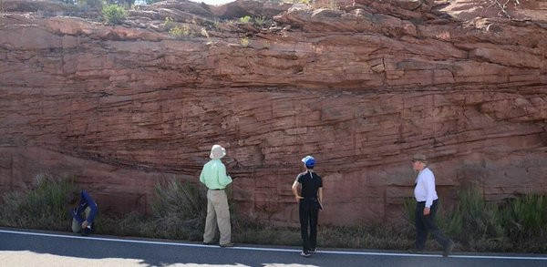 Accretion sets of a fluvial bar in the Kayenta Formation, CO_Photo by Rob Mahon