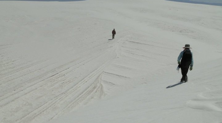 Dune stratigraphy visible in interdune areas, White Sands_photo by Anjali Fernandes
